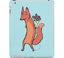 the fox has roses iPad Case/Skin
