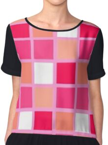 Playful Harlequin Lipstick Colors Chiffon Top
