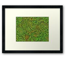 green nature abstract  Framed Print