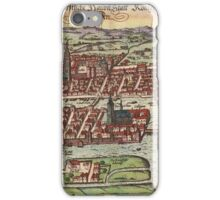 Konigsberg Vintage map.Geography Germany ,city view,building,political,Lithography,historical fashion,geo design,Cartography,Country,Science,history,urban iPhone Case/Skin