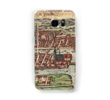 Konigsberg Vintage map.Geography Germany ,city view,building,political,Lithography,historical fashion,geo design,Cartography,Country,Science,history,urban Samsung Galaxy Case/Skin