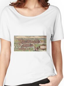 Konigsberg Vintage map.Geography Germany ,city view,building,political,Lithography,historical fashion,geo design,Cartography,Country,Science,history,urban Women's Relaxed Fit T-Shirt