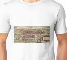 Konigsberg Vintage map.Geography Germany ,city view,building,political,Lithography,historical fashion,geo design,Cartography,Country,Science,history,urban Unisex T-Shirt