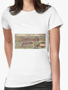 Konigsberg Vintage map.Geography Germany ,city view,building,political,Lithography,historical fashion,geo design,Cartography,Country,Science,history,urban Womens Fitted T-Shirt