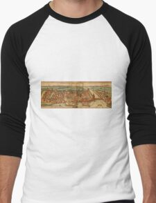 Konstanz Vintage map.Geography Germany ,city view,building,political,Lithography,historical fashion,geo design,Cartography,Country,Science,history,urban Men's Baseball ¾ T-Shirt