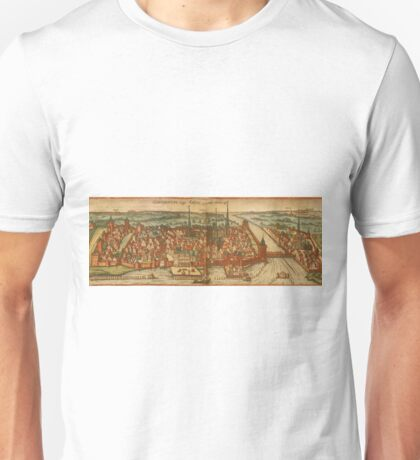 Konstanz Vintage map.Geography Germany ,city view,building,political,Lithography,historical fashion,geo design,Cartography,Country,Science,history,urban Unisex T-Shirt