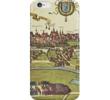 Krakow Vintage map.Geography Poland ,city view,building,political,Lithography,historical fashion,geo design,Cartography,Country,Science,history,urban iPhone Case/Skin