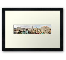 Panorama of the Strip, Las Vegas, Nevada, USA Framed Print