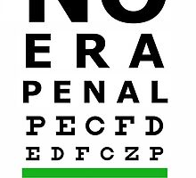 No Era Penal MX 2014 - Eye Chart by noerapenal