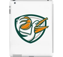 Pelican Dunking Basketball Crest Retro iPad Case/Skin