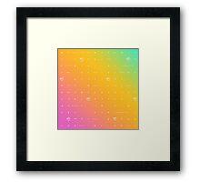 buffy big bads: rainbow pastel Framed Print