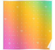 buffy big bads: rainbow pastel Poster