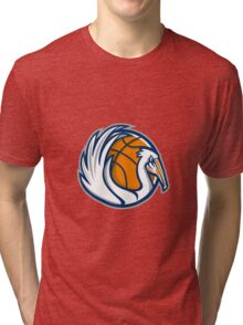 Pelican Wings Basketball Retro Tri-blend T-Shirt