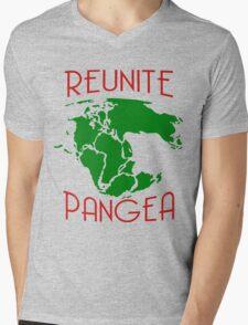 Funny Reunite Pangea Mens V-Neck T-Shirt