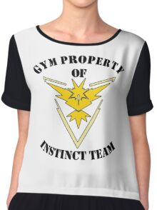 pokemon go gym property instinct team Chiffon Top