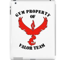 pokemon go gym property valor team iPad Case/Skin