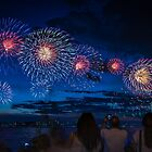 Australia Day Fireworks 2016 by Peter Whitworth