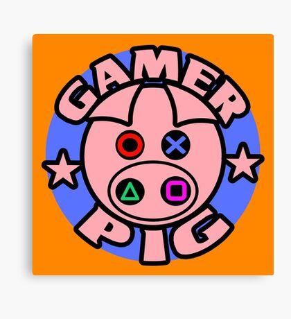 GAMER PIG Canvas Print