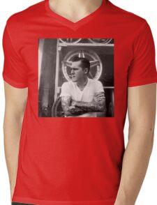 Brian Fallon Black & White Mens V-Neck T-Shirt