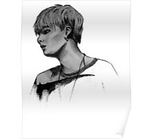 Min Yoongi Grey-scale sketch Poster