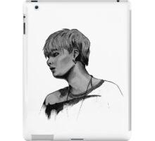 Min Yoongi Grey-scale sketch iPad Case/Skin