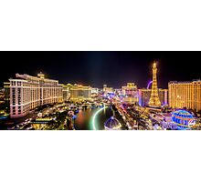 Nighttime Panorama of the Strip, Las Vegas, Nevada USA Photographic Print