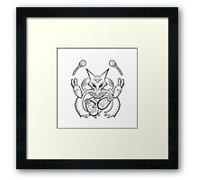 Alakazam de los Muertos | Pokemon & Day of The Dead Mashup Framed Print