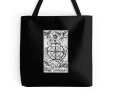 Wheel of Fortune Tarot Card - Major Arcana - fortune telling - occult Tote Bag
