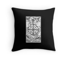 Wheel of Fortune Tarot Card - Major Arcana - fortune telling - occult Throw Pillow