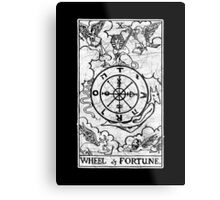Wheel of Fortune Tarot Card - Major Arcana - fortune telling - occult Metal Print