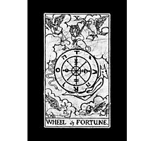 Wheel of Fortune Tarot Card - Major Arcana - fortune telling - occult Photographic Print