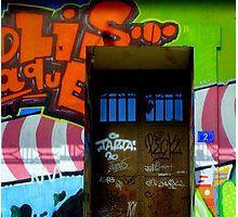 Graffiti door. Wallart. Art. Photographic Print