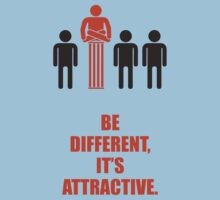 Be Different Its Attractive - Corporate Start-up Quotes One Piece - Short Sleeve