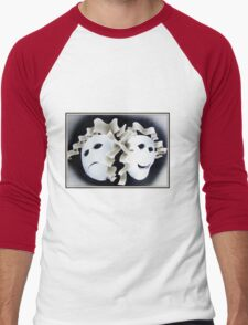 Theatre mask Men's Baseball ¾ T-Shirt