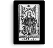 Justice Tarot Card - Major Arcana - Fortune Telling - Occult Canvas Print