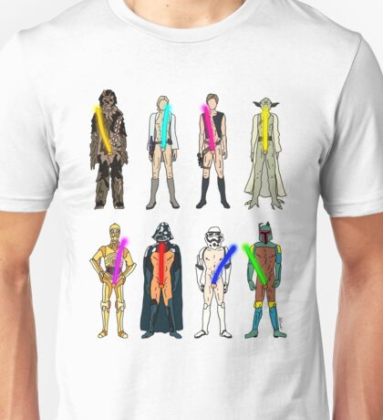 Naughty Lightsabers Unisex T-Shirt