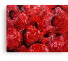 Red Raspberries Kitchen Decor Fruit Acrylic Contemporary Painting Canvas Print