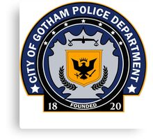 Gotham City Police Department Canvas Print