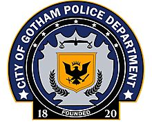 Gotham City Police Department Photographic Print