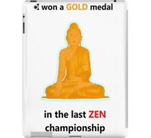 Zen gold medal  iPad Case/Skin