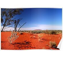 Red Desert, Distant Uluru  Poster