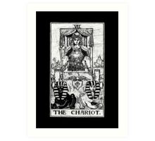 The Chariot Tarot Card - Major Arcana - fortune telling - occult Art Print