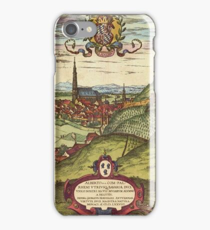 Landshut Vintage map.Geography Germany ,city view,building,political,Lithography,historical fashion,geo design,Cartography,Country,Science,history,urban iPhone Case/Skin