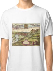 Landshut Vintage map.Geography Germany ,city view,building,political,Lithography,historical fashion,geo design,Cartography,Country,Science,history,urban Classic T-Shirt