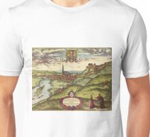 Landshut Vintage map.Geography Germany ,city view,building,political,Lithography,historical fashion,geo design,Cartography,Country,Science,history,urban Unisex T-Shirt