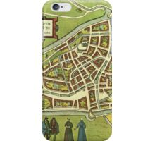 Leeuwaerden Vintage map.Geography Netherlands ,city view,building,political,Lithography,historical fashion,geo design,Cartography,Country,Science,history,urban iPhone Case/Skin