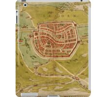 Leiden Vintage map.Geography Netherlands ,city view,building,political,Lithography,historical fashion,geo design,Cartography,Country,Science,history,urban iPad Case/Skin