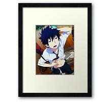 Blue Exorcist- Sleepy Rin Okumura Framed Print