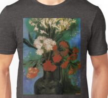 Vintage Fine Art - Vincent Van Gogh 1886 - Vase of Flowers Unisex T-Shirt