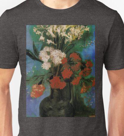 Vintage Fine Art - Vincent Van Gogh 1886 - Vase of Flowers Unisex T-Shirt